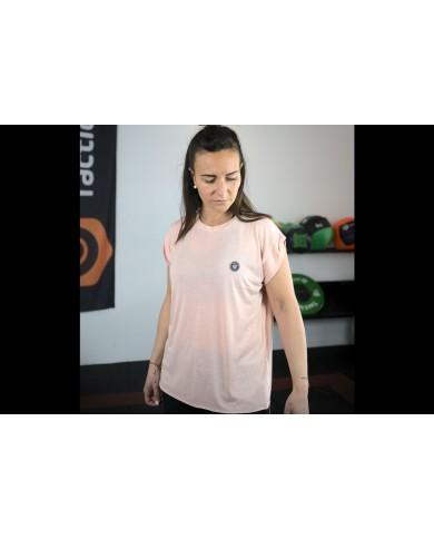T-shirt coupe fluide noir femme Tactical Steel